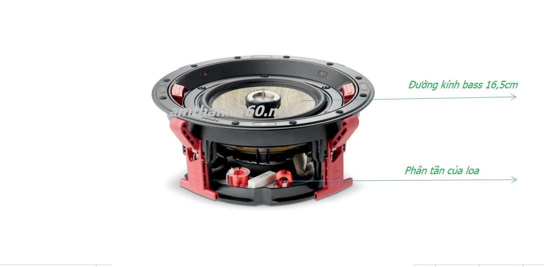 Loa âm trần Focal 300 ICw6 được trang bị thêm phân tần