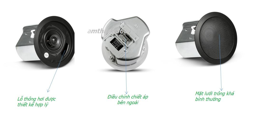Loa âm trần JBL Control 14CT nhìn thực tế không quá thẩm, tuy nhiên cũng đã có những nét hoàn thiện hơn về thiết kế và chất âm
