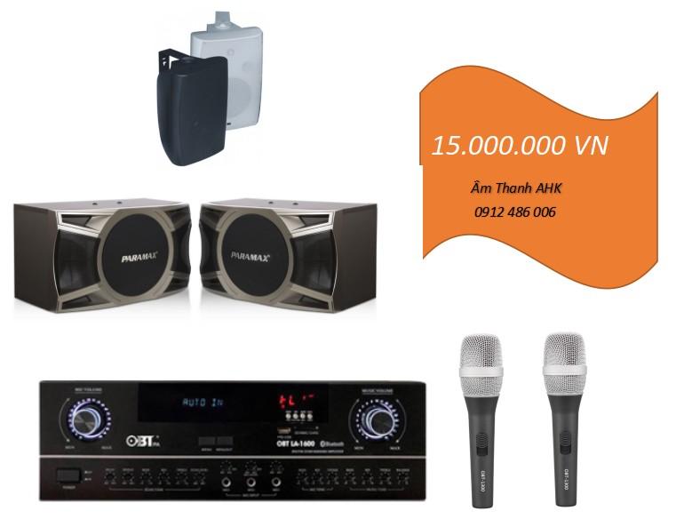 Dàn karaoke Paramax D200 cho phòng 20m2
