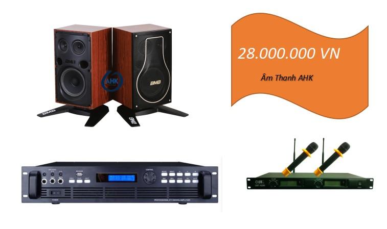 Dàn karaoke loa BmB CSH200 phòng 20m
