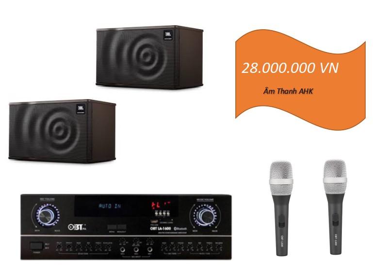 Dàn karaoke loa JBL MK10 phòng 20m