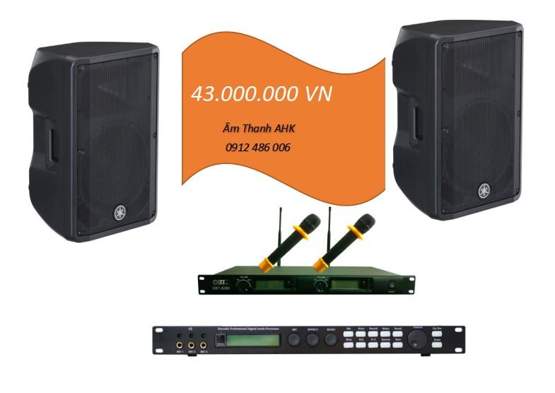 Dan karaoke loa lien cong suat Yamaha cho phong 20m2