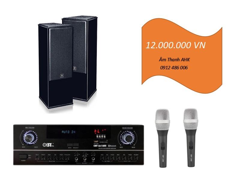 Dan loa karaoke dung Nanomax cho phòng 20m2