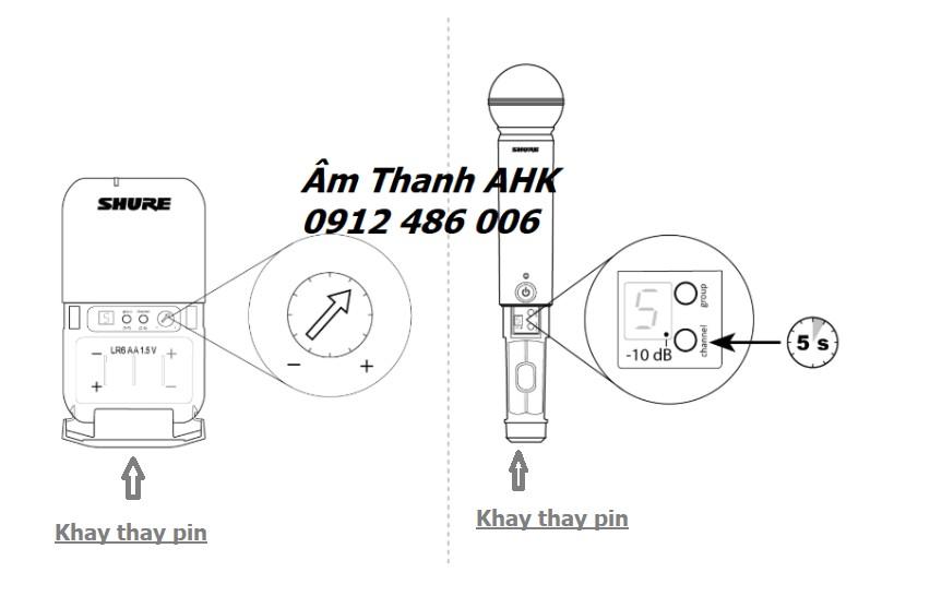 Các khay thay pin cho micro không dây