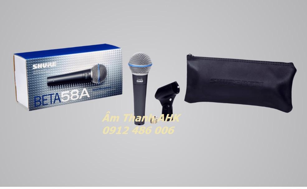 Micro Shure Beta 58A và các phụ kiện