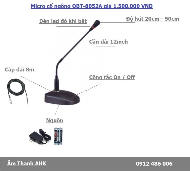 Micro co ngong co day OBT-8052a