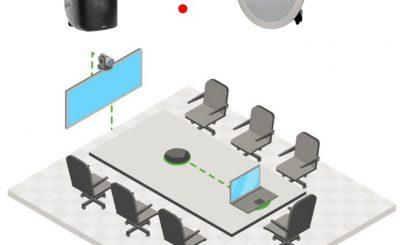 Một hệ thống âm thanh phòng họp trực tuyến