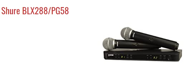 Shure BLX288-PG58